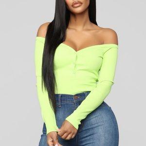 Fashion Nova Stay Away Off Shoulder Top